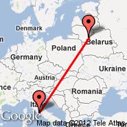 Vilnius (Vilnius International Airport, VNO) - Rim (Metropolitan Area, ROM)