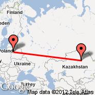 Vilnius (Vilnius International Airport, VNO) - Astana (TSE)