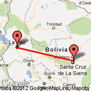 Santa Cruz (Viru Viru Intl, VVI) - La Paz (El Alto, LPB)