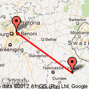 Vryheid (VYD) - Johannesburg (Oliver Reginald Tambo International, JNB)