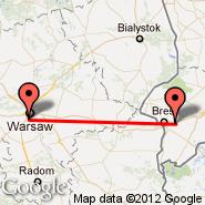 Varšava (Frederic Chopin, WAW) - Brest (BQT)