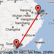 Wuxi (WUX) - Hong Kong (Hong Kong International, HKG)
