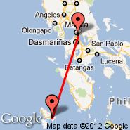 Coron (Coron Airport, XCN) - Manila (Ninoy Aquino Intl, MNL)