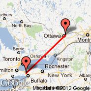 Niagara Falls Railway (Railway Station, XLV) - Ottawa (Executive Gatineau-Ottawa, YND)