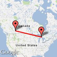 Sault-Sainte-Marie (Sault Ste Marie, YAM) - Calgary (Calgary International Airport, YYC)