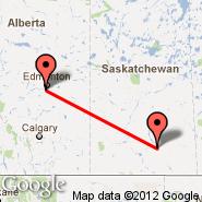 Edmonton (Edmonton International, YEG) - Regina/Saskatchewan (Regina, YQR)