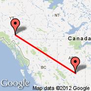 Edmonton (Edmonton International, YEG) - Whitehorse (Whitehorse International, YXY)