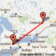 Hamilton (John C. Munro Hamilton International Airport, YHM) - Ottawa (Executive Gatineau-Ottawa, YND)