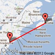 Halifax (Halifax International, YHZ) - New York (Metropolitan Area, NYC)