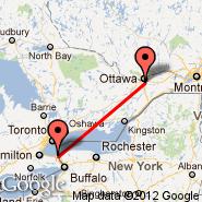 Ottawa (Ottawa Macdonald-Cartier International, YOW) - St Catharines (St Catharines, YCM)