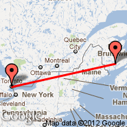 Toronto (Toronto Pearson International, YTO) - Gagetown (YCX)