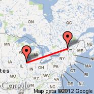 Montreal (Montréal-pierre Elliott Trudeau International Airport, YUL) - Chicago (O'Hare International Airport, ORD)