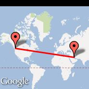 Vancouver (Vancouver Intl, YVR) - Kuwait (Kuwait International, KWI)
