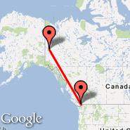 Vancouver (Vancouver Intl, YVR) - Dawson (Dawson City, YDA)