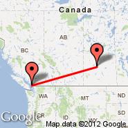 Vancouver (Vancouver Intl, YVR) - Saskatoon (J.G. Diefenbaker International Airport, YXE)