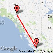 Vancouver (Vancouver Intl, YVR) - Whitehorse (Whitehorse International, YXY)