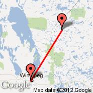 Deer Lake (YVZ) - Winnipeg (James Armstrong Richardson International Airport, YWG)