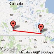 Winnipeg (James Armstrong Richardson International Airport, YWG) - Calgary (Calgary International Airport, YYC)