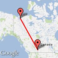 Calgary (Calgary International Airport, YYC) - Inuvik (Inuvik/mike Zubko, YEV)