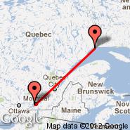 Sept-Iles (YZV) - Montreal (Montréal-pierre Elliott Trudeau International Airport, YUL)