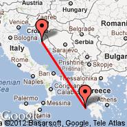 Zadar (ZAD) - Zakynthos Island (Zakinthos International Airport, ZTH)