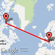 Zagabria (Pleso, ZAG) - Nunavut (CANU)
