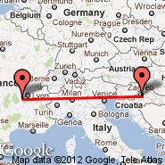 Zagreb (Pleso, ZAG) - Saint-Etienne (Boutheon, EBU)