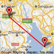 Shunde (Shunde Ferry, ZAS) - Hong Kong (Hong Kong International, HKG)