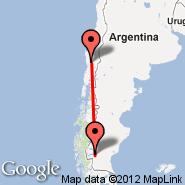 Temuco (Maquehue, ZCO) - El Calafate (Comandante Armando Tola International Airport, FTE)