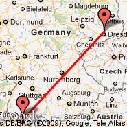 Zurich (Zürich-Kloten, ZRH) - Dresden (Dresden Arpt, DRS)