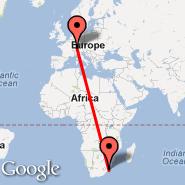 Zurich (Zürich-Kloten, ZRH) - Durban (Durban International, DUR)